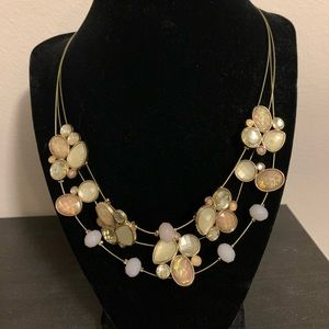 Statement necklace and matching earrings